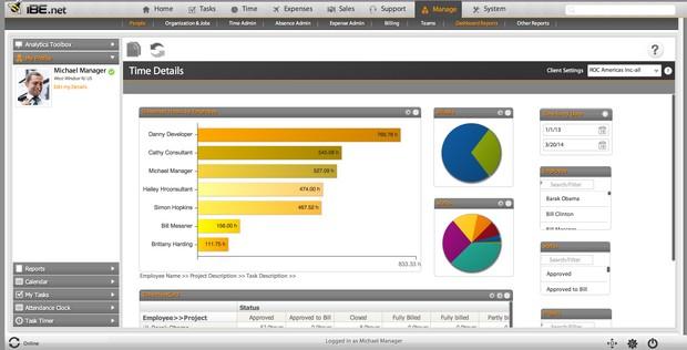 این نرم افزارibe.net همچنین یک محیط برای مدیریت مبتنی بر پروژه است