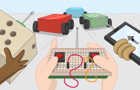 ساخت ربات هدایت شونده با ریموت کنترل