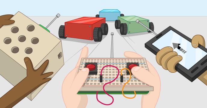 ربات هدایت شونده با ریموت کنترل را با هم بسازیم !